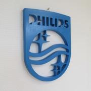 Houten philips logo angle
