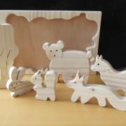 Bosdieren houten puzzel close up 2